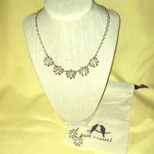 Mirabelle Petite Collar Necklace and Drop Earrings